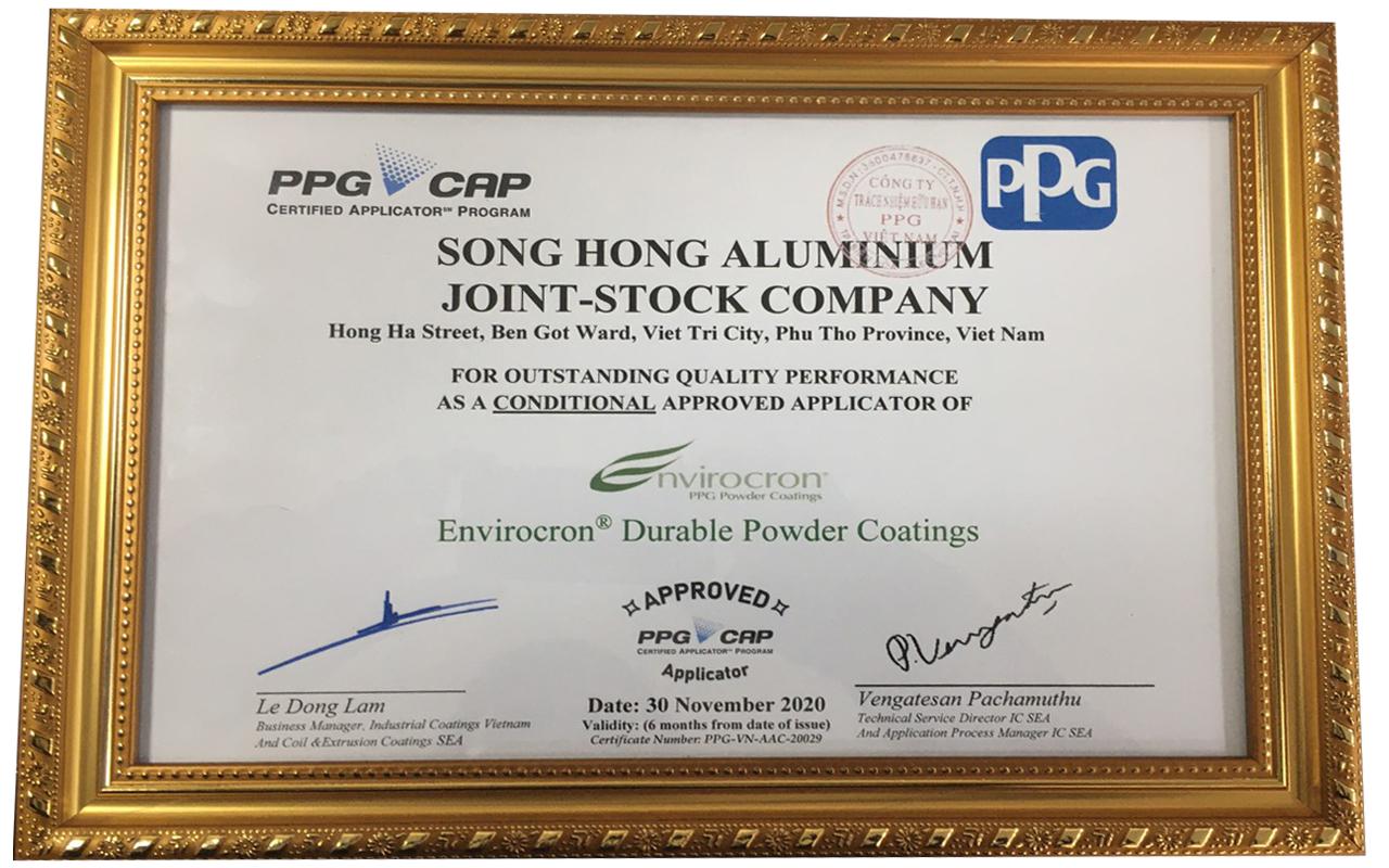 Công ty PPG Việt Nam thành viên của Tập đoàn Sơn PPG Mỹ đã trao chứng nhận dây chuyền Công nghệ