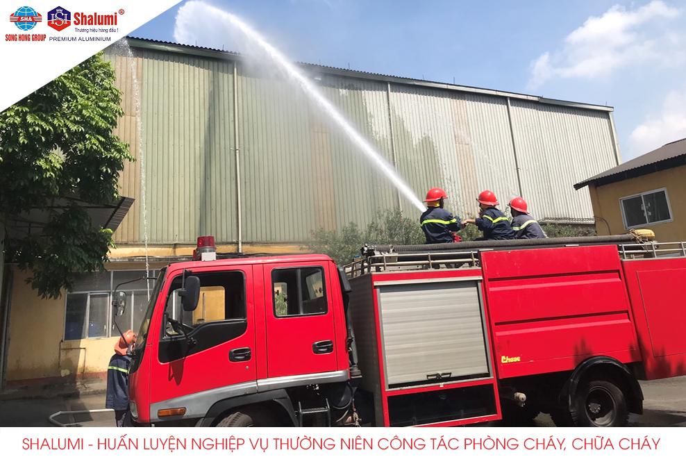Shalumi - Huấn luyện nghiệp vụ thường niên công tác phòng cháy, chữa cháy